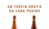 Un tercio de Cervezas La Virgen gratis en cada pedido
